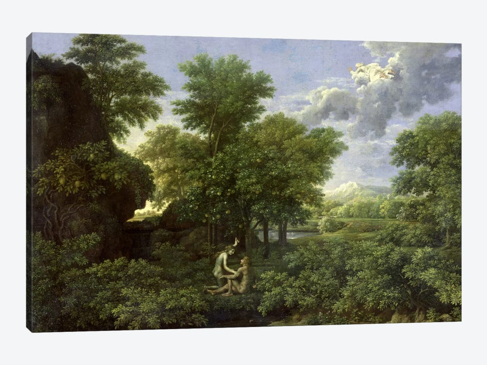 Spring, or The Garden of Eden  by Nicolas Poussin 1-piece Canvas Print