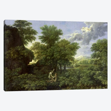 Spring, or The Garden of Eden  Canvas Print #BMN568} by Nicolas Poussin Canvas Art Print