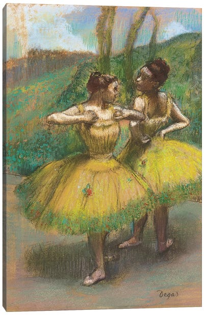 Dancers with yellow skirts  Canvas Art Print