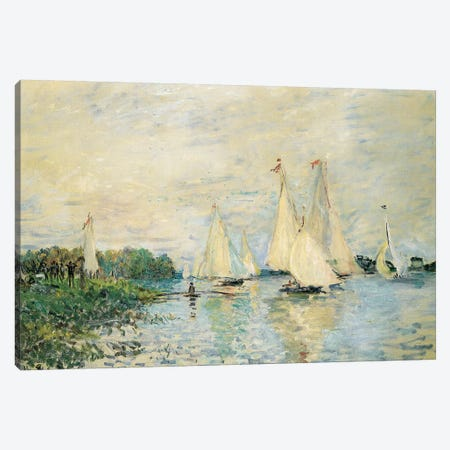 Regatta at Argenteuil, 1874  Canvas Print #BMN5694} by Claude Monet Canvas Art Print