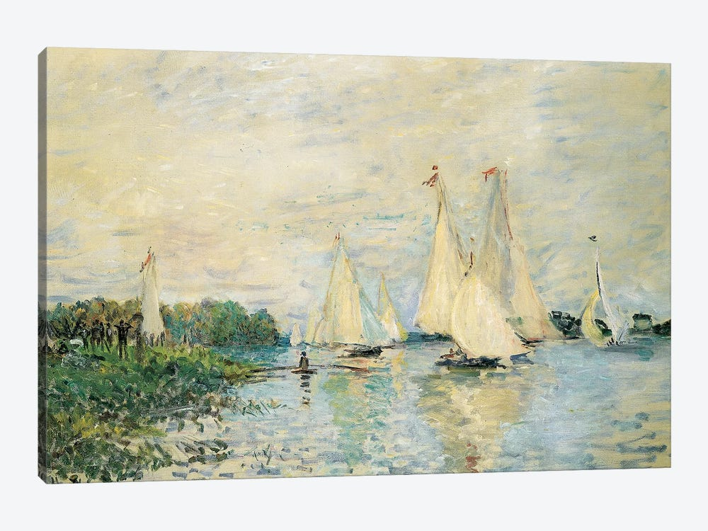 Regatta at Argenteuil, 1874  by Claude Monet 1-piece Canvas Art