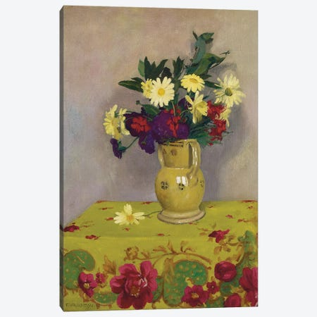 Yellow daisies and various flowers, 1911  Canvas Print #BMN5695} by Felix Edouard Vallotton Art Print