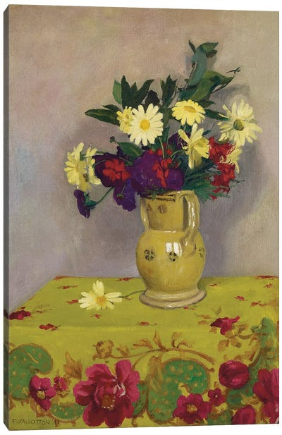 Yellow daisies and various flowers, 1911  Canvas Art Print