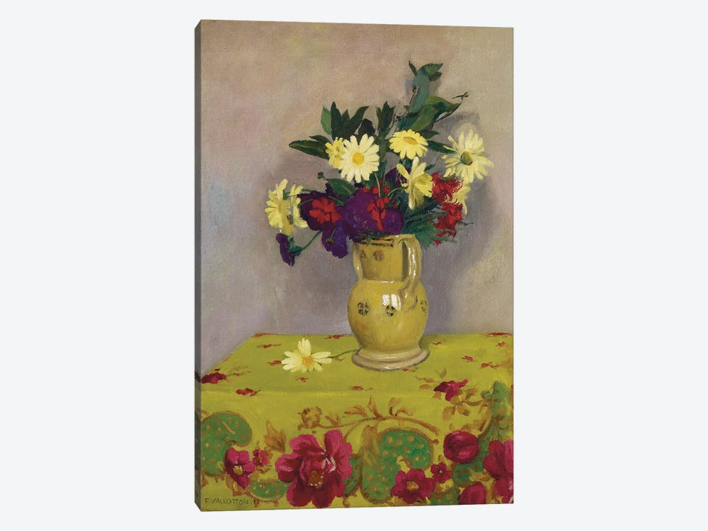 Yellow daisies and various flowers, 1911  by Felix Edouard Vallotton 1-piece Canvas Print
