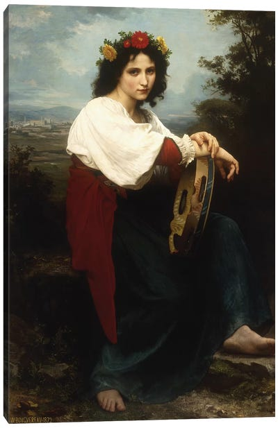 Italian woman with a tambourine, 1872  Canvas Art Print