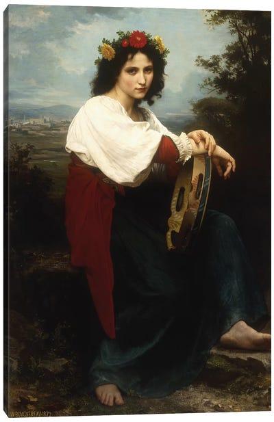 Italian woman with a tambourine, 1872  Canvas Art Print