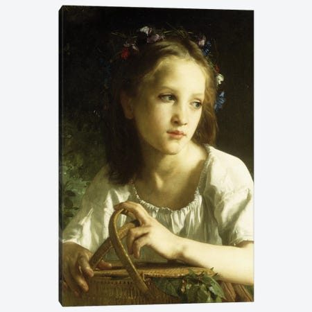 La Petite Ophelie, 1875  Canvas Print #BMN5697} by William-Adolphe Bouguereau Canvas Art Print