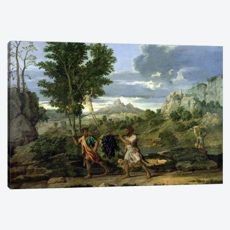 Autumn, or the Bunch of Grapes Taken from the Promised Land, 1660-64  Canvas Print #BMN569} by Nicolas Poussin Canvas Print