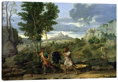 Autumn, or the Bunch of Grapes Taken from the Promised Land, 1660-64  Canvas Art Print