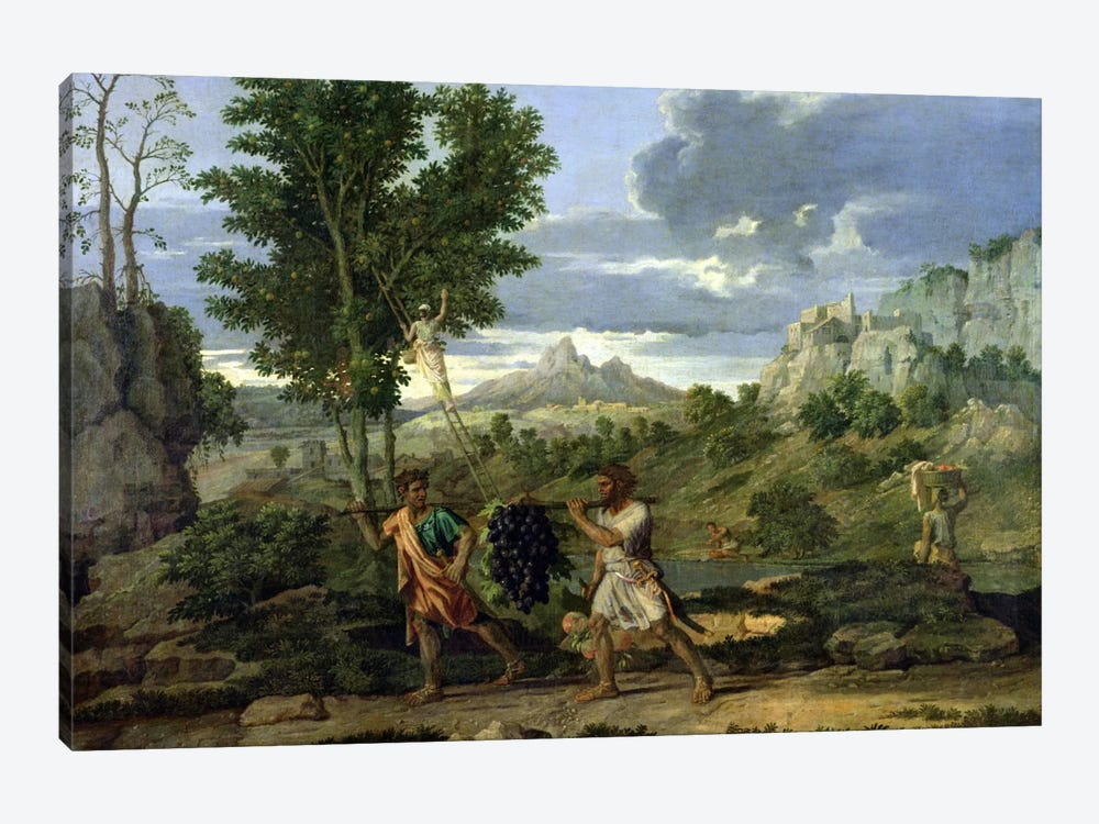 Autumn, or the Bunch of Grapes Taken from the Promised Land, 1660-64  by Nicolas Poussin 1-piece Canvas Art