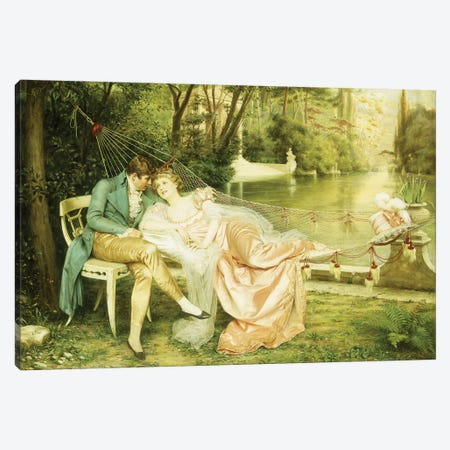 Flirtation  Canvas Print #BMN5700} by Joseph Frederick Charles Soulacroix Canvas Artwork