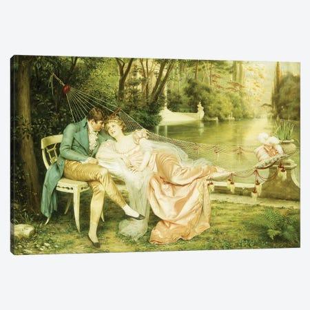 Flirtation  Canvas Print #BMN5700} by Joseph Frederick Charles Soulacroix Canvas Artwork