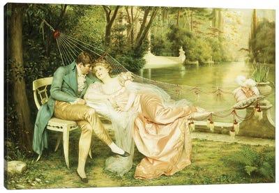 Flirtation  Canvas Art Print