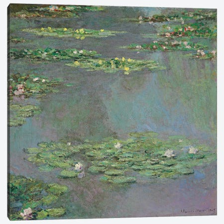 Nympheas, 1905  Canvas Print #BMN5703} by Claude Monet Canvas Wall Art