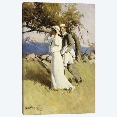 Summer Days, 1916  Canvas Print #BMN5704} by William Henry Dethlef Koerner Canvas Print