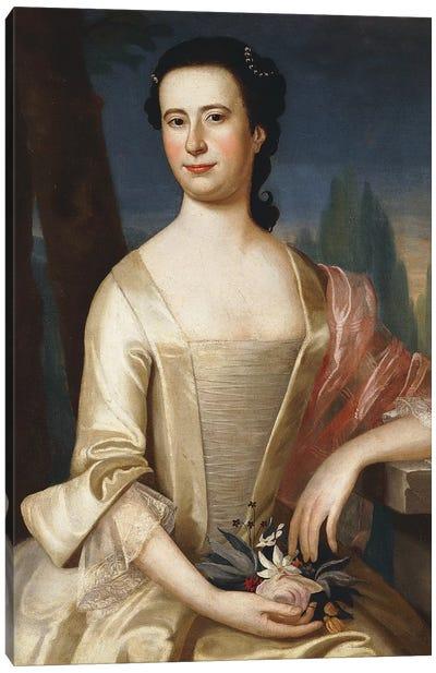 Portrait of a Woman, 1755  Canvas Art Print