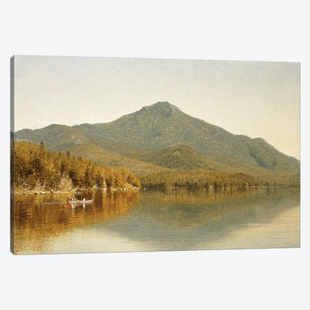 Mount Whiteface from Lake Placid, in the Adirondacks, 1863  Canvas Print #BMN5706} by Albert Bierstadt Canvas Art Print