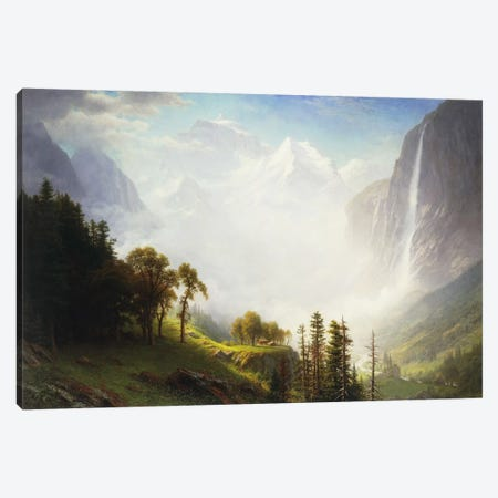 Majesty of the Mountains, 1853-57  Canvas Print #BMN5707} by Albert Bierstadt Canvas Art Print