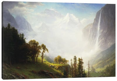 Majesty of the Mountains, 1853-57 by Albert Bierstadt Canvas Art Print