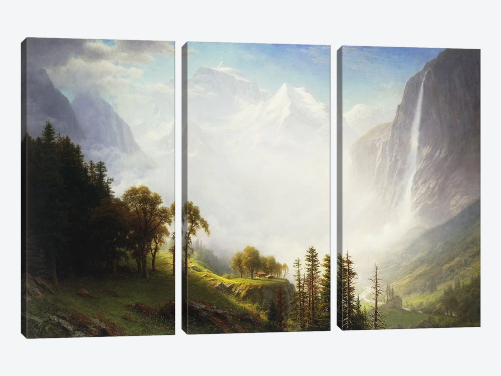 Majesty of the Mountains, 1853-57  by Albert Bierstadt 3-piece Canvas Print