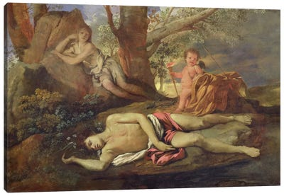 Echo and Narcissus  Canvas Art Print