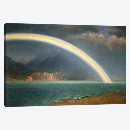 Rainbow Over Jenny Lake, Wyoming Canvas Print #BMN5711} by Albert Bierstadt Art Print
