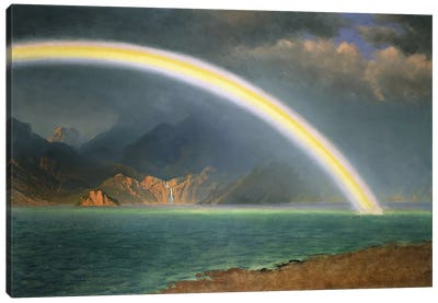 Rainbow Over Jenny Lake, Wyoming Canvas Art Print