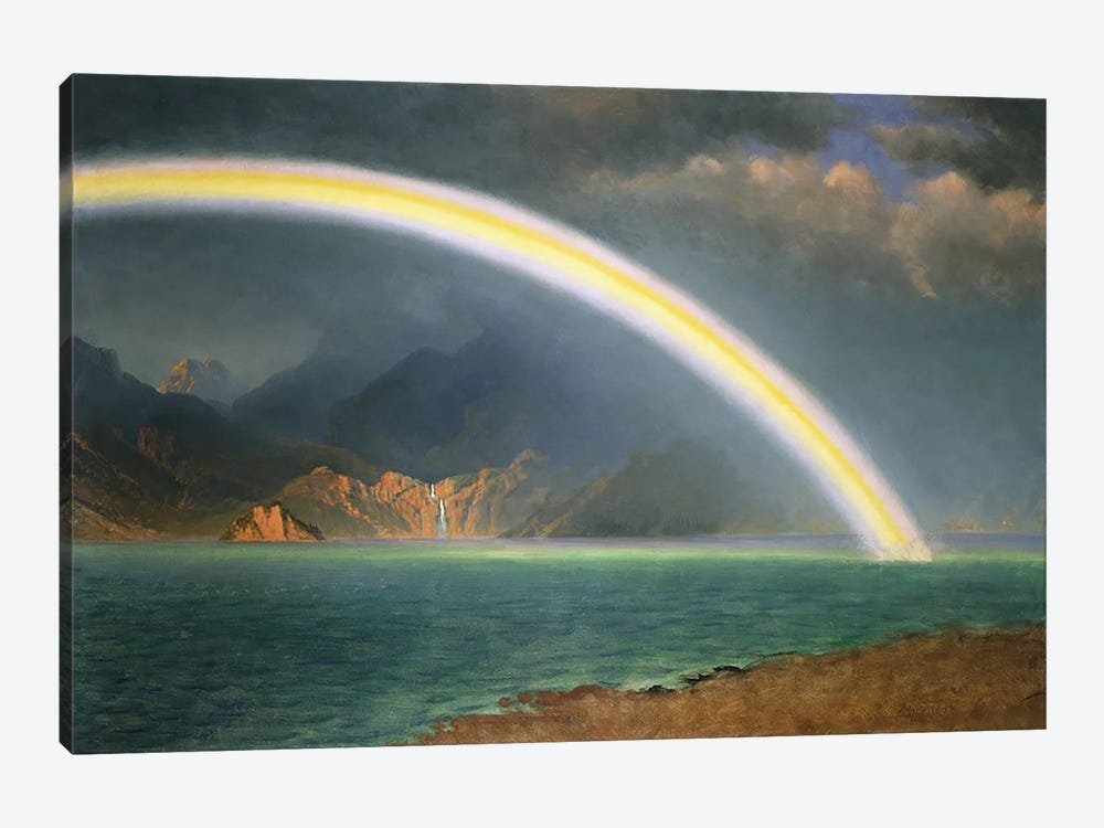 Rainbow Over Jenny Lake, Wyoming by Albert Bierstadt 1-piece Canvas Wall Art