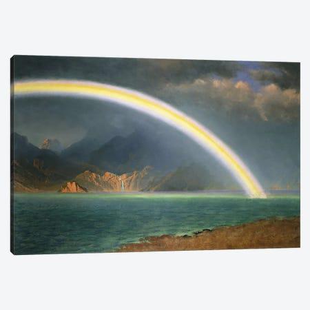 Rainbow Over Jenny Lake, Wyoming Canvas Print #BMN5711} by Albert Bierstadt Art Print