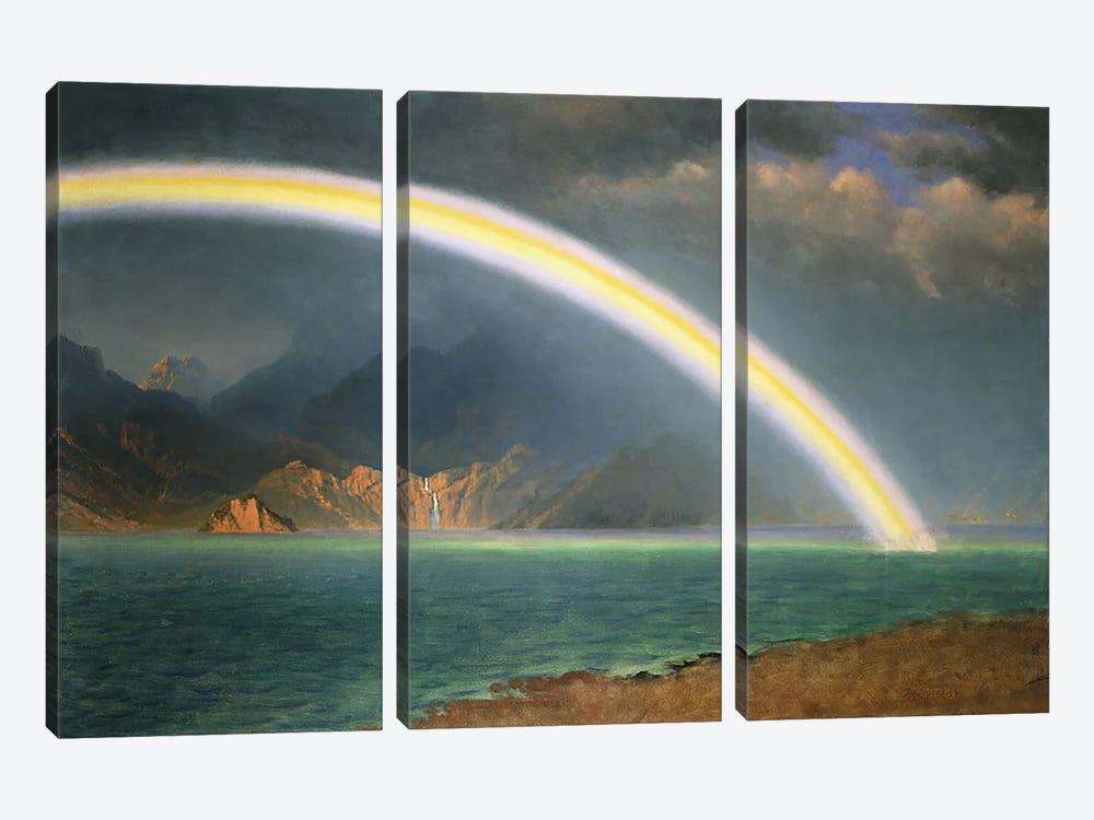 Rainbow Over Jenny Lake, Wyoming by Albert Bierstadt 3-piece Canvas Art