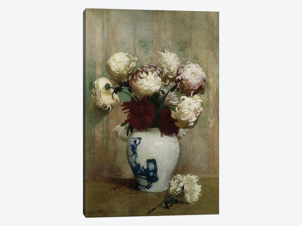 Mums in an Oriental Vase,  by Emil Carlsen 1-piece Canvas Art Print
