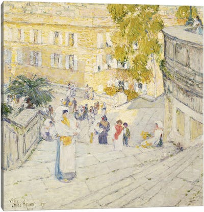 The Spanish Steps of Rome, 1897  Canvas Art Print