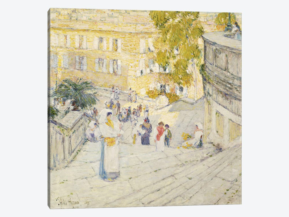 The Spanish Steps of Rome, 1897  by Childe Hassam 1-piece Canvas Artwork