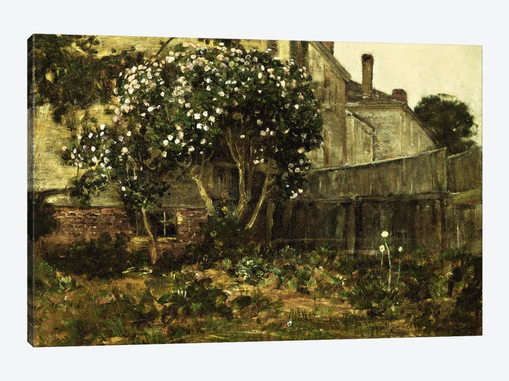 Lilac Time, c. 1884  by Childe Hassam 1-piece Canvas Print