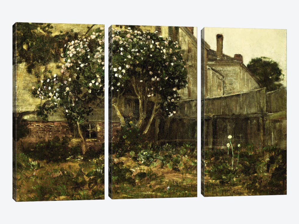 Lilac Time, c. 1884  by Childe Hassam 3-piece Art Print