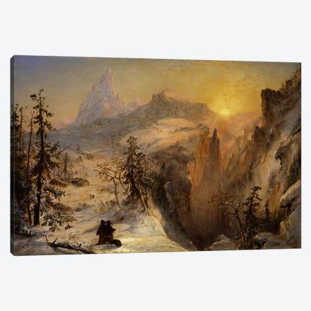 Winter in Switzerland, 1860  Canvas Print #BMN5716} by Jasper Francis Cropsey Canvas Art