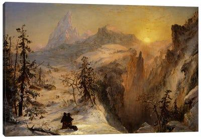 Winter in Switzerland, 1860  Canvas Art Print