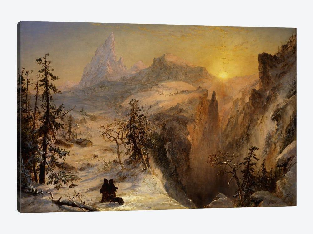Winter in Switzerland, 1860  by Jasper Francis Cropsey 1-piece Canvas Art Print