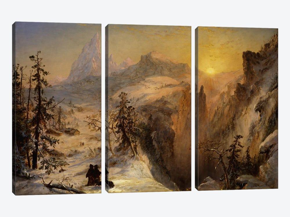 Winter in Switzerland, 1860  by Jasper Francis Cropsey 3-piece Canvas Art Print