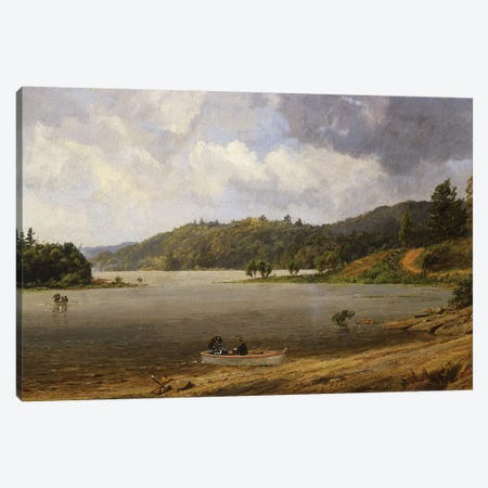 On the Wawayanda Lake, New Jersey, 1873  Canvas Print #BMN5718} by Jasper Francis Cropsey Art Print