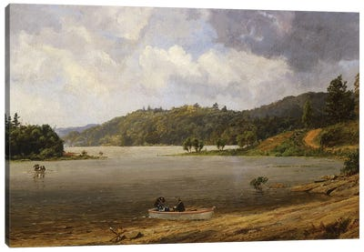 On the Wawayanda Lake, New Jersey, 1873  Canvas Art Print