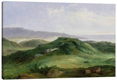 The Mouth of the River Bidassoa  Canvas Art Print
