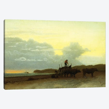 Coastal View, Newport, 1861  Canvas Print #BMN5720} by Albert Bierstadt Canvas Artwork