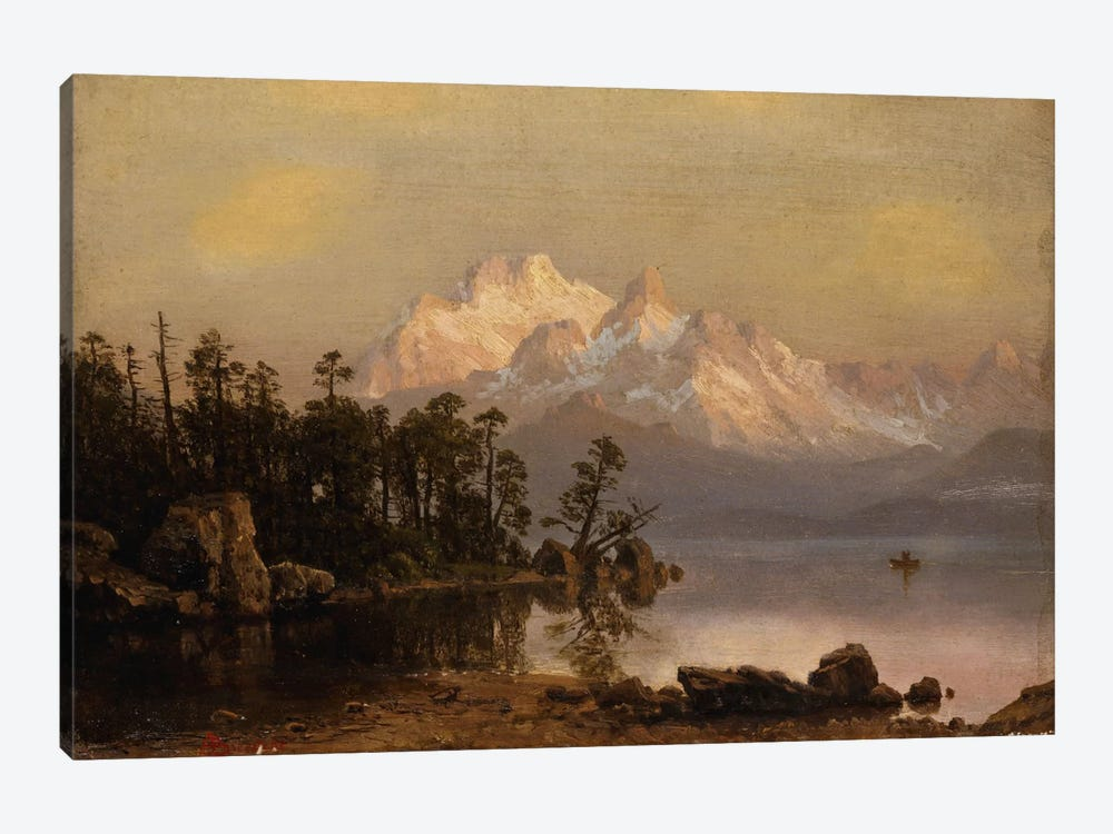 Mountain Canoeing by Albert Bierstadt 1-piece Canvas Artwork