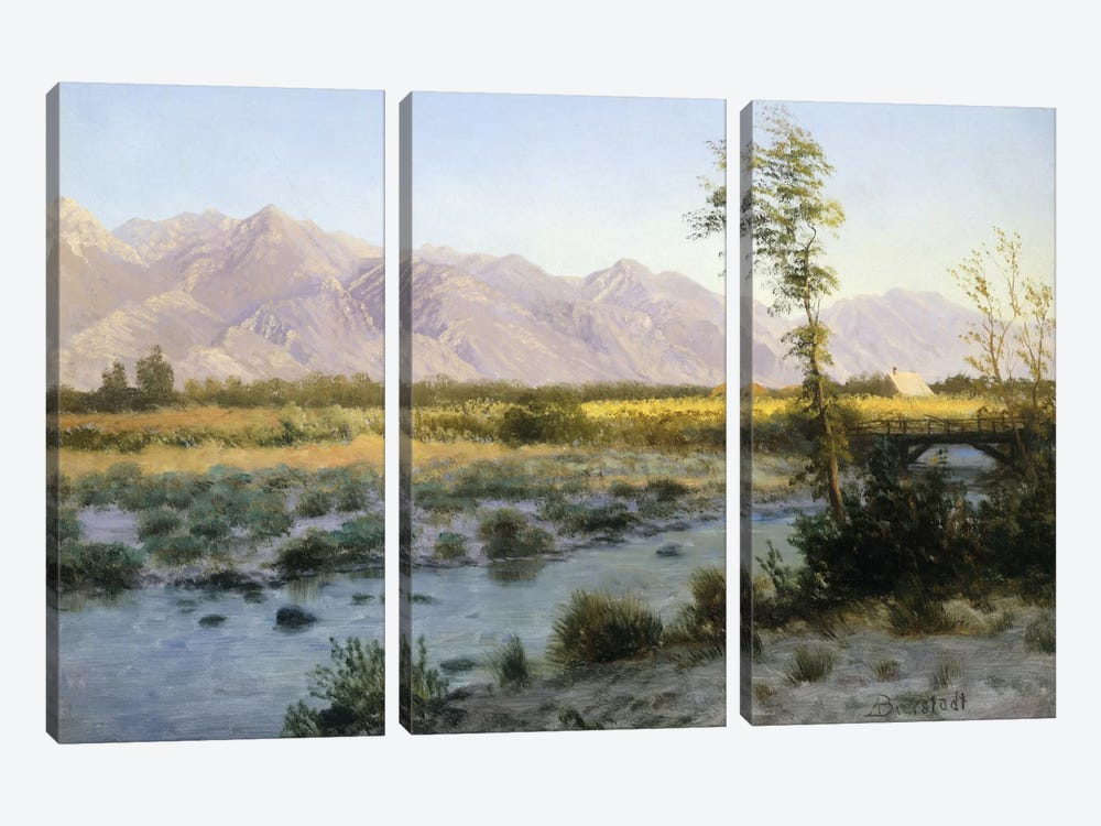 Prairie Landscape by Albert Bierstadt 3-piece Canvas Artwork