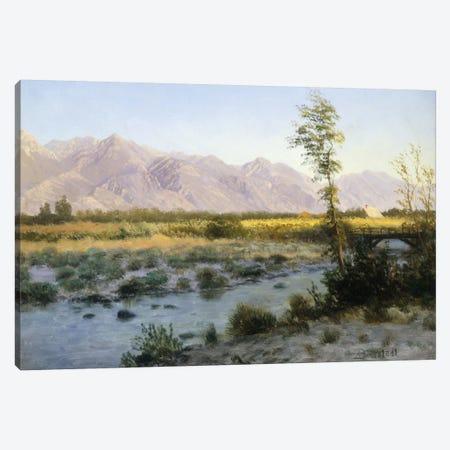 Prairie Landscape Canvas Print #BMN5726} by Albert Bierstadt Art Print