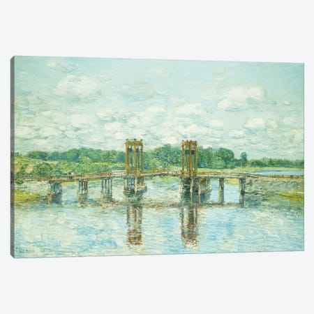 The Toll Bridge, New Hampshire, Near Exeter, 1906  Canvas Print #BMN5728} by Childe Hassam Canvas Art