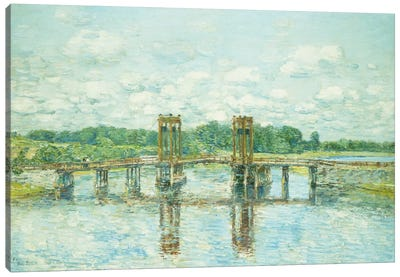The Toll Bridge, New Hampshire, Near Exeter, 1906 Canvas Art Print