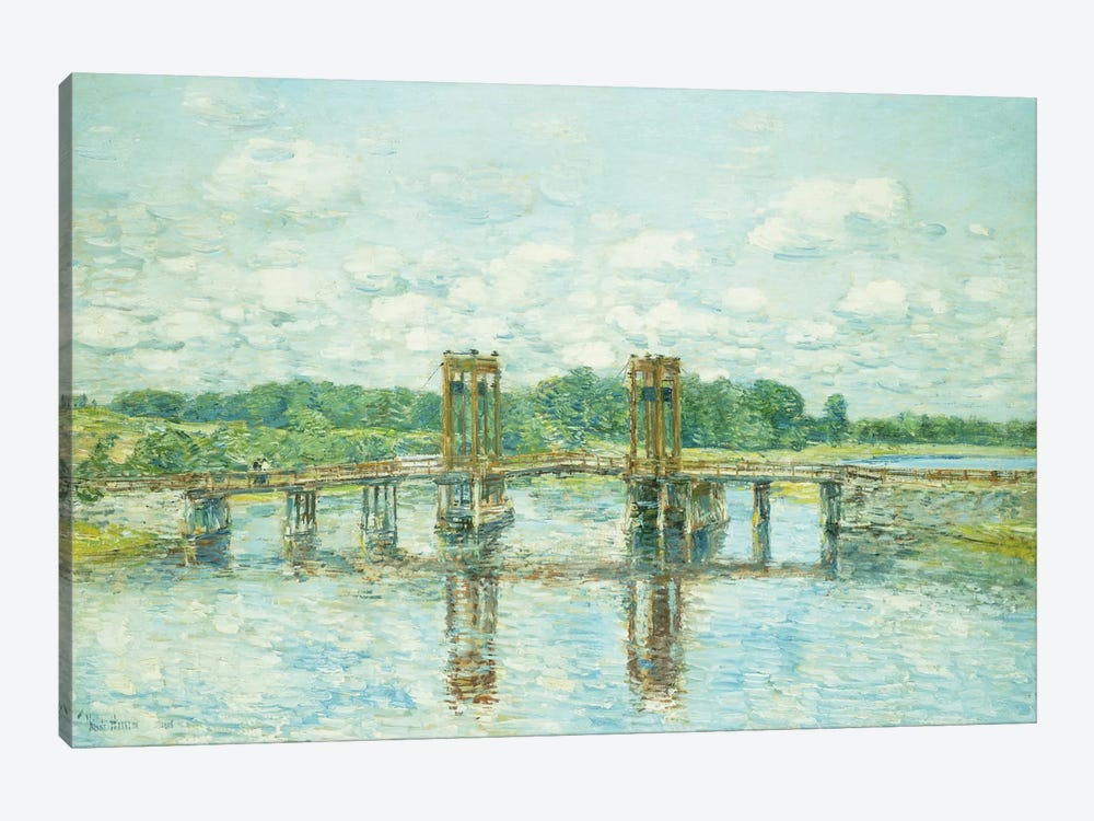The Toll Bridge, New Hampshire, Near Exeter, 1906  by Childe Hassam 1-piece Canvas Artwork