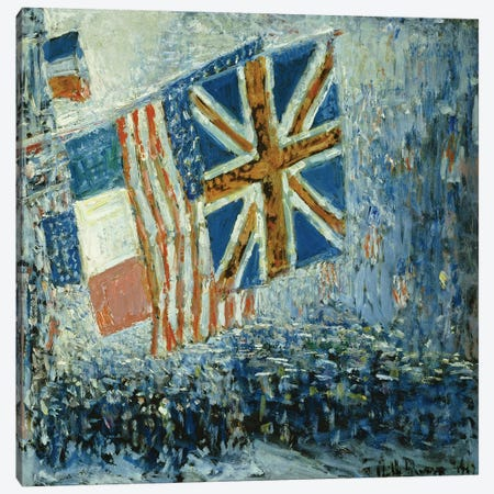 The Big Parade, 1917  Canvas Print #BMN5729} by Childe Hassam Canvas Art